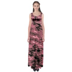 Red Tie Dye 2 Empire Waist Maxi Dress by CoolDesigns