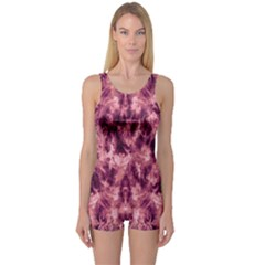 Magenta Tie Dye One Piece Boyleg Swimsuit by CoolDesigns