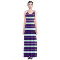 Mint Stripes Sleeveless Maxi Dress by CoolDesigns
