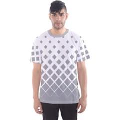 Light Gray Gradient Rhombuses Men s Sport Mesh Tee by CoolDesigns