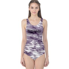 Violet Tie Dye One Piece Swimsuit by CoolDesigns
