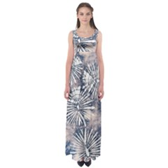 Dull Blue Tie Dye 3 Empire Waist Maxi Dress by CoolDesigns