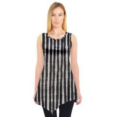 Black Strip Tie Dye Tunic Top by CoolDesigns