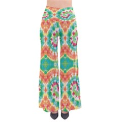 Green & Orange Tie Dye Palazzo Pants by CoolDesigns