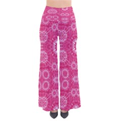 Hot Pink Pattern Tie Dye Palazzo Pants by CoolDesigns