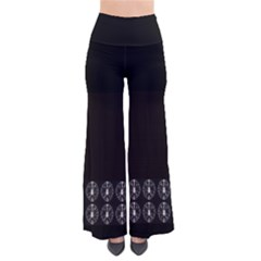 Black Circles Tie Dye Palazzo Pants by CoolDesigns