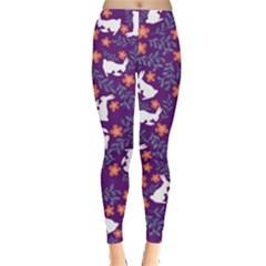 Purple Rabbit Leggings  by CoolDesigns