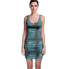 Blue Nautical Pattern Inspired By Tropical Fish Skin In Aqua Blue Bodycon Dress by CoolDesigns
