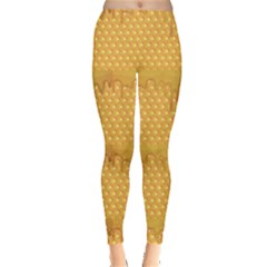Yellow Honeycomb With Honey Women s Leggings by CoolDesigns