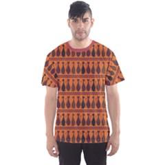 Brown Pattern Of Tribal Elegance African Cats Men s Sport Mesh Tee by CoolDesigns