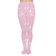Pink Bird Love Gently  Women s Tights by CoolDesigns