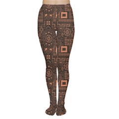 Black Aboriginal Art Indigenous African Patterns Seamless Women s Tights by CoolDesigns