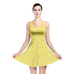 Green Lemon Slice Reversible Skater Dress by CoolDesigns