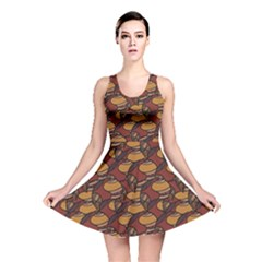 Brown African Ethnic Colorful Pattern Reversible Skater Dress by CoolDesigns