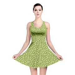 Green Pattern Chopped Kiwi Reversible Skater Dress by CoolDesigns