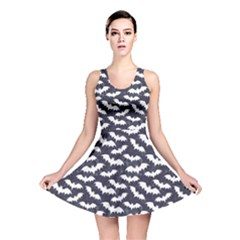 Blue Bats Pattern Reversible Skater Dress by CoolDesigns