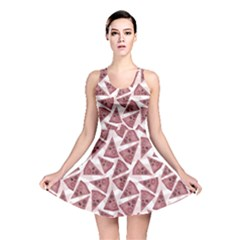 Pink Pizza Pattern With Different Ingredients Reversible Skater Dress by CoolDesigns
