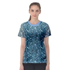 Blue Water With Pattern Tree Japanese Cherry Blossom Women s Sport Mesh Tee by CoolDesigns