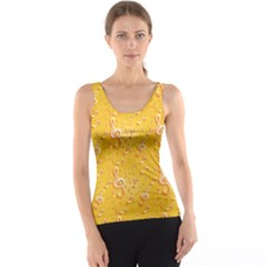 Yellow Yellow Pattern With Music Notes And Key Tank Top by CoolDesigns
