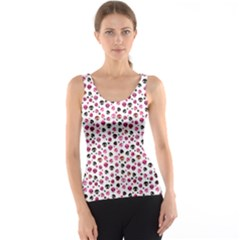Pink Hanging Skulls Pattern Tank Top by CoolDesigns