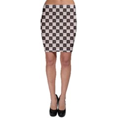 Black Chessboard Made of Black and White Cats Bodycon Skirt
