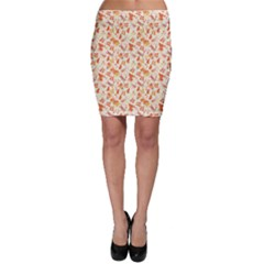 Colorful Watercolor Pattern With Insects Bees And Butterflies Bodycon Skirt by CoolDesigns