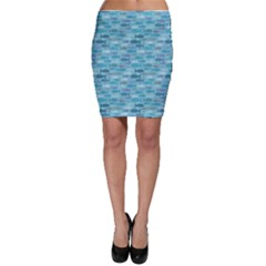 Blue Fish Silhouettes Bodycon Skirt by CoolDesigns