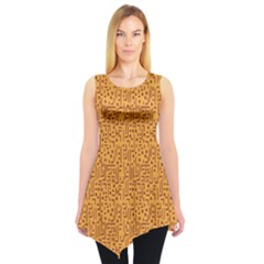 Orange African Style Pattern Sleeveless Tunic Top by CoolDesigns