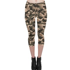 Dark Camouflage Pattern Capri Leggings by CoolDesigns