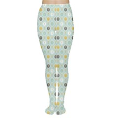 Green Floral Patern with Scandinavian Flowers Pattern Based Women s Tights by CoolDesigns