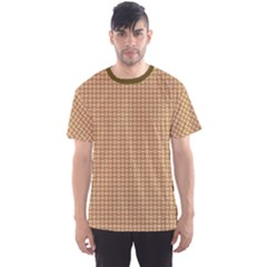 Brown Abstract Wooden Textured Basket Weaving Pattern Men s Sport Mesh Tee by CoolDesigns