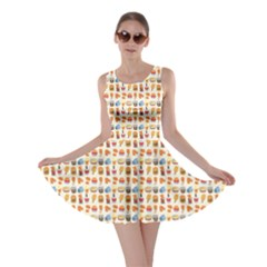 Colorful Fast Food Pattern Skater Dress by CoolDesigns
