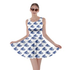 Blue Blue Yachts Or Sailboat Pattern Skater Dress by CoolDesigns