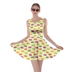 Orange Pattern With Funny Bunnies Skater Dress by CoolDesigns