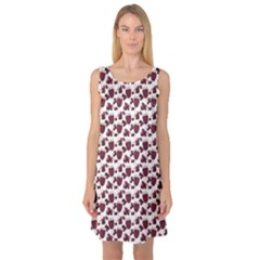 Purple Pattern With Wine Glasses Sleeveless Satin Nightdress by CoolDesigns