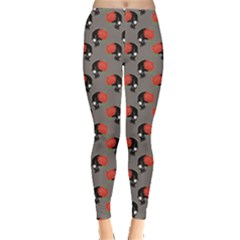 Colorful Pattern With Skulls Leggings by CoolDesigns