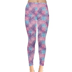 Purple Violet Abstract With Sparks Floral Leggings by CoolDesigns