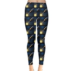 Dark Planets Of Solar System In Orbit Aorund The Sun Leggings by CoolDesigns