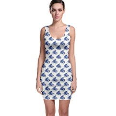 Blue Blue Yachts Or Sailboat Pattern Bodycon Dress by CoolDesigns
