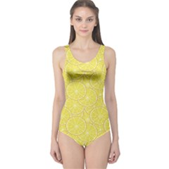 Green Lemon Slice Women s One Piece Swimsuit by CoolDesigns