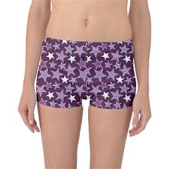 Purple Stars and Stripes Pattern Boyleg Bikini Bottoms by CoolDesigns