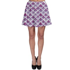 Purple Watercolor Retro Fish Scales Texture Pattern Skater Dress by CoolDesigns
