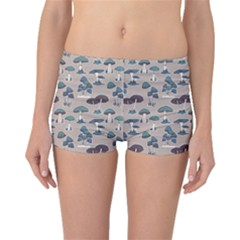 Blue Colorful Mushrooms Pattern Boyleg Bikini Bottoms by CoolDesigns