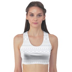 Gray Hand Drawn Pattern For Women s Sport Bra by CoolDesigns