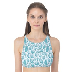 Blue Pattern With Various Crystals Shapes Tank Bikini Top by CoolDesigns