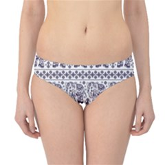Purple Ethnic Vintage Elephant Business Hipster Bikini Bottom by CoolDesigns