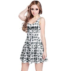 Gray Pattern Of Silhouette Set Of Animals Sleeveless Skater Dress by CoolDesigns