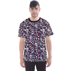 Black Crazy Babies Stylish Pattern Men s Sport Mesh Tee by CoolDesigns