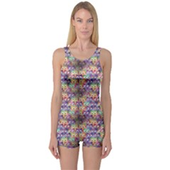 Purple Owls Pattern Women s One Piece Swimsuit by CoolDesigns