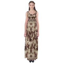 Brown Tie Dye Empire Waist Maxi Dress by CoolDesigns